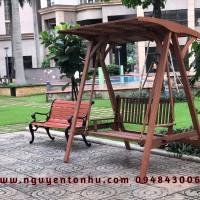 ghế xích đu gỗ cao cấp