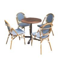 Mẫu bàn ghế khung hợp kim nhôm sơn giả cổ