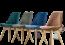 Ghế văn phòng chân gỗ cao cấp