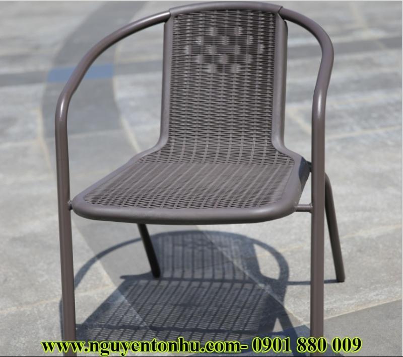 bàn ghế khung sắt ngoài trời