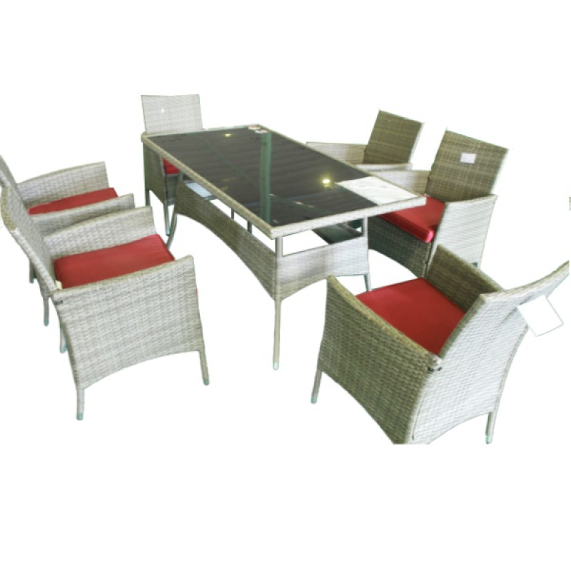 Bộ bàn  ghế nhựa mây 6 ghế