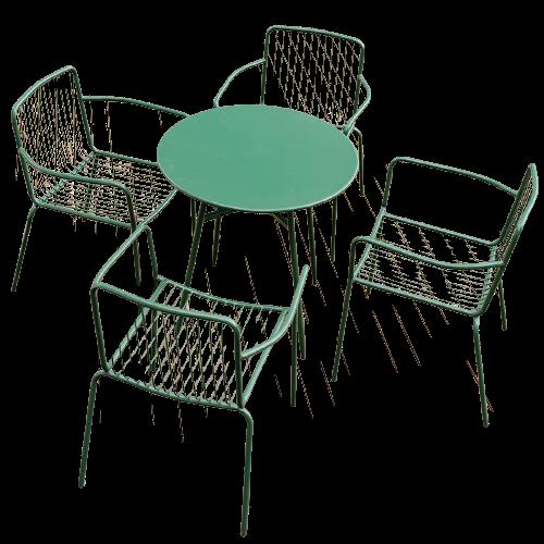 Bàn ghế sắt sơn tĩnh điện giá rẻ