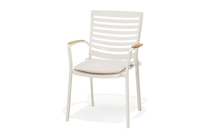 Ghế nhôm đúc có tay vịn gỗ cao cấp thiết kế