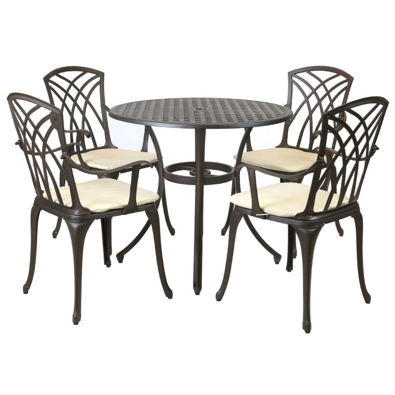 Bộ bàn ghế nhôm đúc ngoài trời hàng nhập khẩu chính hãng