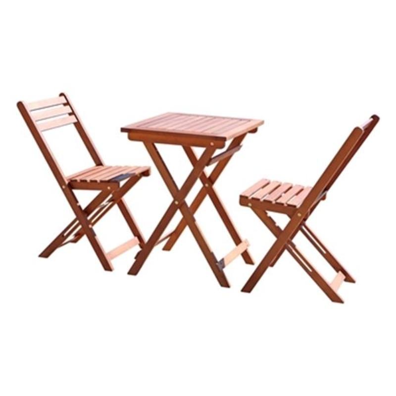 Bàn ghế ăn bằng gỗ ngoài trời