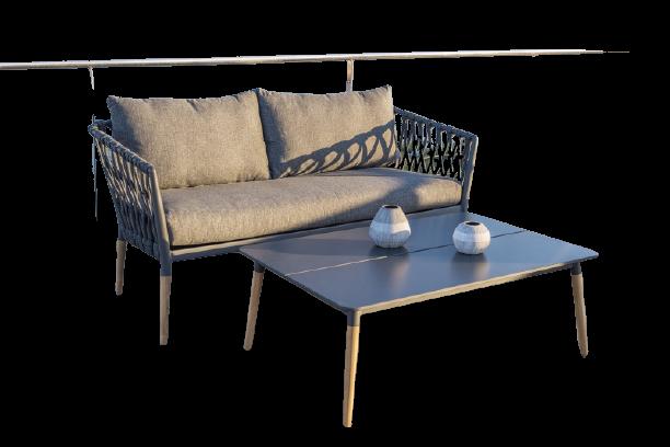 Ghế sofa ngoài trời đan dây thừng kiểu dáng Sang trọng bề bỉ
